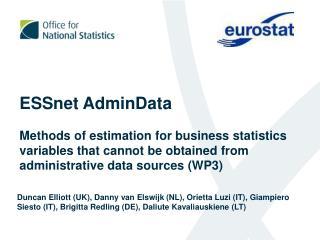 ESSnet AdminData