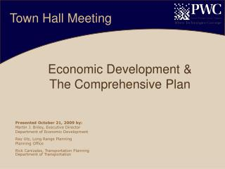 Economic Development &  The Comprehensive Plan