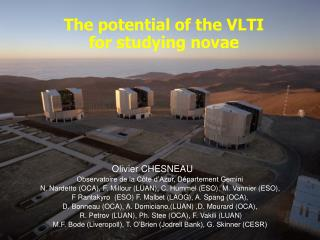 The potential of the VLTI for studying novae