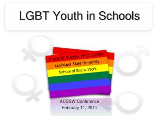 LGBT Youth in Schools