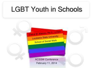 LGBT Youth in Schools