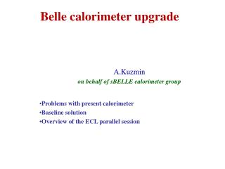 Belle calorimeter upgrade