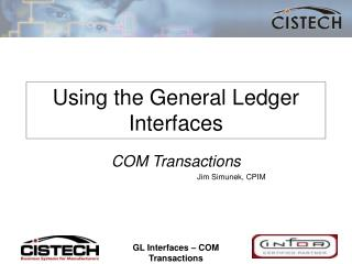Using the General Ledger Interfaces