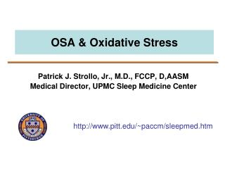 OSA & Oxidative Stress