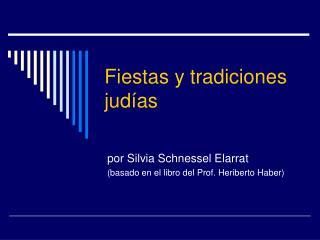 Fiestas y tradiciones judías