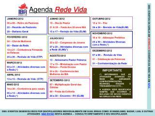 Agenda  Rede Vida