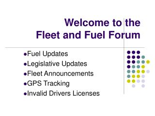Welcome to the Fleet and Fuel Forum