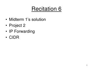 Recitation 6