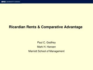 Ricardian Rents & Comparative Advantage