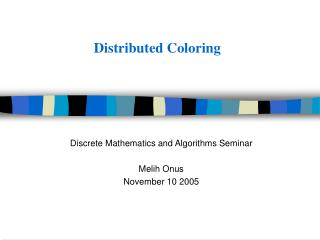 Distributed Coloring