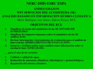 NERC-DfID-ESRC ESPA