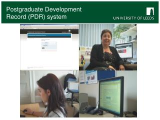 Postgraduate Development Record PDR system