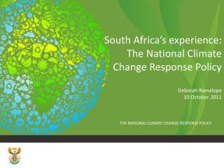 The Challenge - SA emissions....