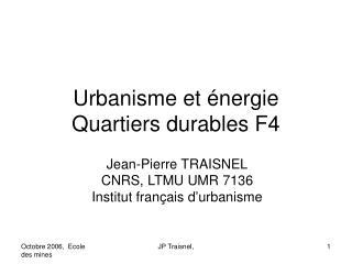 Urbanisme et énergie Quartiers durables F4