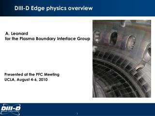 DIII-D Edge physics overview