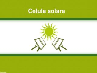 Celula solara