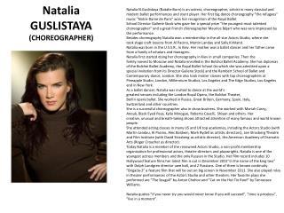 Natalia GUSLISTAYA (CHOREOGRAPHER)