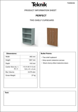 PRODUCT INFORMATION SHEET