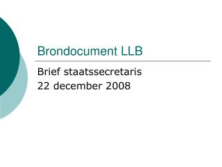 Brondocument LLB