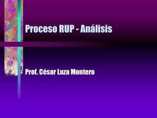 Proceso RUP - Análisis