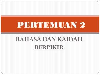 PERTEMUAN 2