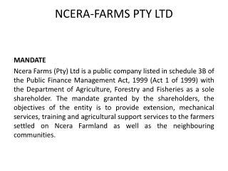NCERA-FARMS PTY LTD