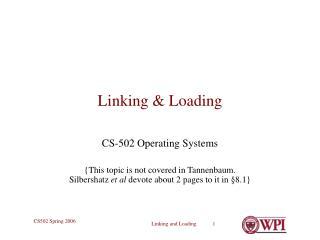 Linking  Loading