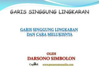 GARIS SINGGUNG LINGKARAN