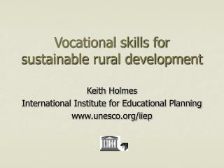 Vocational skills for sustainable rural development