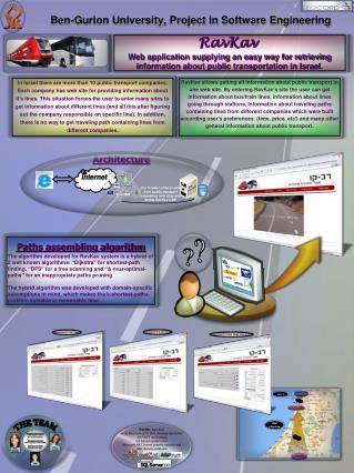 Ben-Gurion University ,  Project in Software Engineering