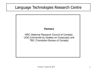 Language Technologies Research Centre