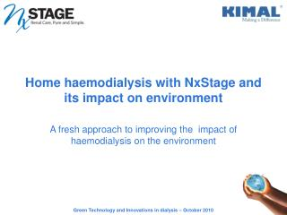 Home haemodialysis with NxStage and its impact on environment