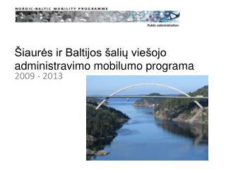 Šiaurės ir Baltijos šalių viešojo administravimo mobilumo programa