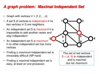 A graph problem:  Maximal Independent Set