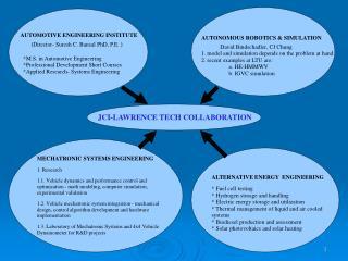 JCI-LAWRENCE TECH COLLABORATION