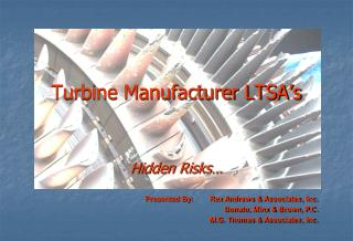 Turbine Manufacturer LTSA's