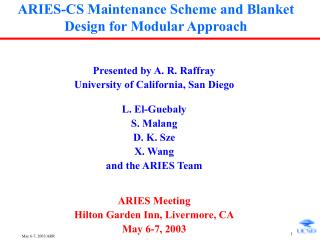 ARIES-CS Maintenance Scheme and Blanket Design for Modular Approach
