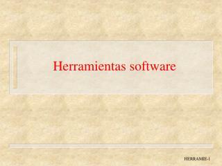 Herramientas software