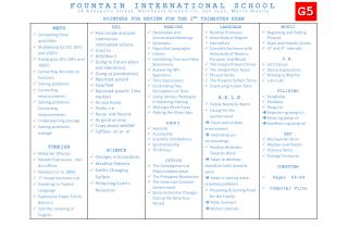 FOUNTAIN INTERNATIONAL SCHOOL