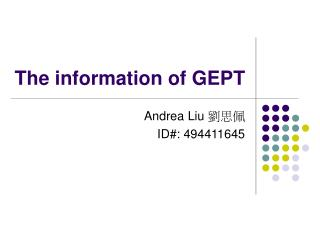 The information of GEPT
