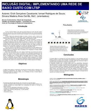 Inclusão Digital: Implementando uma rede de baixo custo COM LTSP