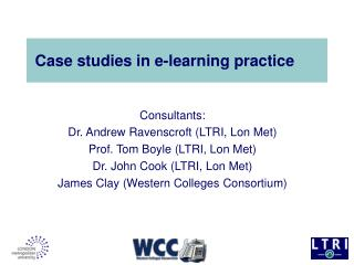Case studies in e-learning practice