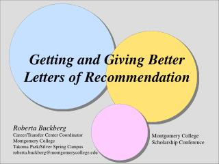 Getting and Giving Better Letters of Recommendation