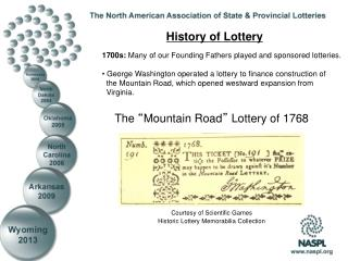 The  � Mountain Road �  Lottery of 1768