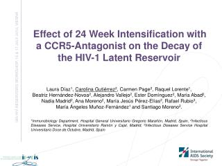 IAS HIV RESERVOIRS WORKSHOP, 16 & 17 JULY 2010, VIENNA