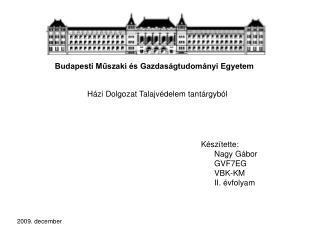 Budapesti M?szaki �s Gazdas�gtudom�nyi Egyetem