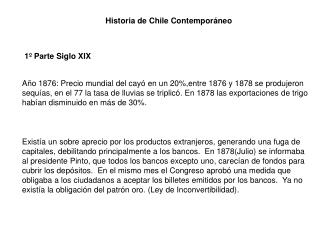 Historia de Chile Contemporáneo