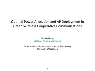 Optimal Power Allocation and AP Deployment in Green Wireless Cooperative Communications