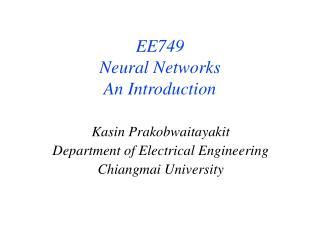 Kasin Prakobwaitayakit Department of Electrical Engineering Chiangmai University