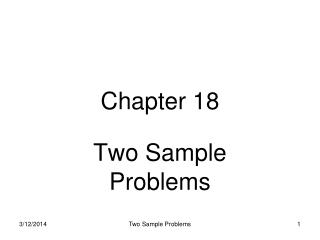 Two Sample Problems